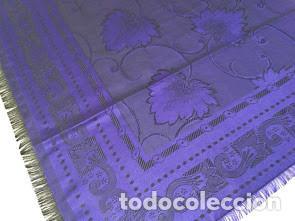 Antigüedades: Pañuelo de seda adamascado. Indumentaria tradicional. - Foto 2 - 86998988