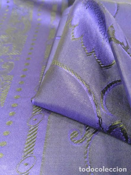 Antigüedades: Pañuelo de seda adamascado. Indumentaria tradicional. - Foto 5 - 86998988