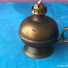 Antigüedades: ANTIGUO QUINQUE APLIQUEDE METAL O BRONCE. Lote 87004392