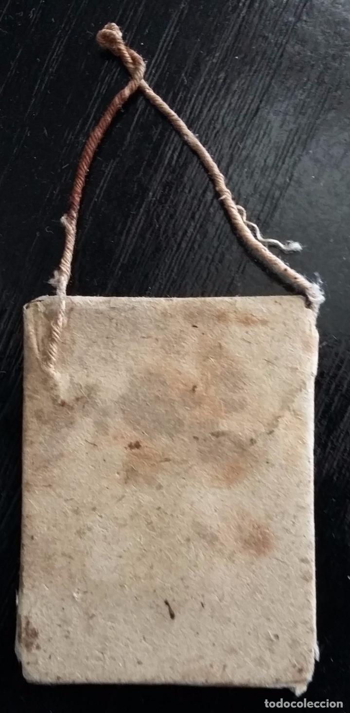 Antigüedades: ESCAPULARIO VIRGEN DE LOS DESAMPARADOS. LITOGRAFIA - FINALES S. XIX - Foto 3 - 87015672
