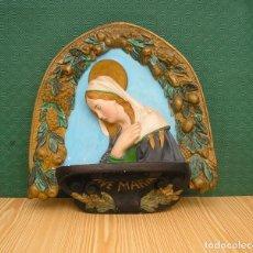 Antigüedades: AVE MARIA EN ESCAYOLA.. Lote 87029640