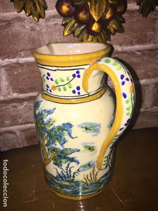 Antigüedades: Jarra s XIX ceramica puente del arzobispo firmada - Foto 2 - 87035992