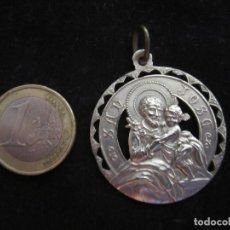 Antigüedades: MEDALLA METAL PLATEADO SAN JOSE. ALUMNAS DEL COLEGIO DE LAS R.R.S. DE S.JOSE. Lote 96557104