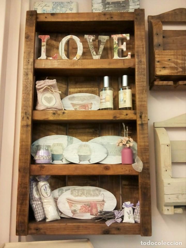 Genial estanteria de pino rustica hecha a mano comprar - Estanteria de pino ...