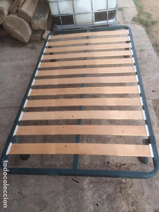 Somier de lamas de madera con patas de cama ind comprar - Somier de 90 con patas ...