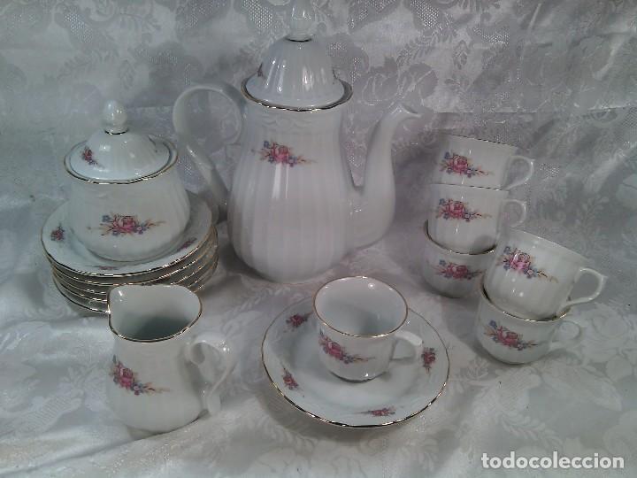 Antigüedades: JUEGO DE CAFÉ. PORCELANA DE SANTA CLARA. 12 SERVICIOS. COMPLETO Y A ESTRENAR.TERCER CUARTO DEL S.XX - Foto 2 - 87060064