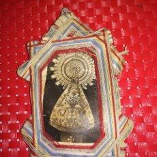 Antigüedades: ANTIGUO ESCAPULARIO VIRGEN DEL PILAR - AÑOS 20/30 - 14,5 X 8 CMS.. Lote 87082684