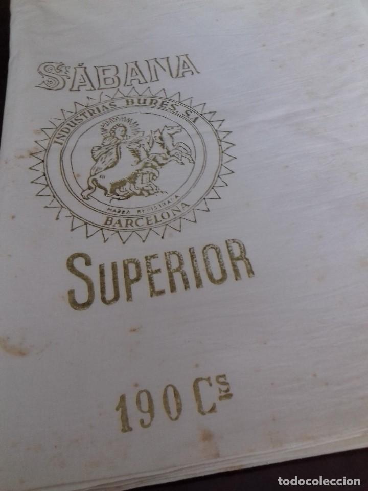 ANTIGUO CORTE DE SABANA DE BUEN ALGODON. (Antigüedades - Hogar y Decoración - Sábanas Antiguas)
