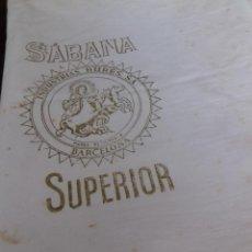 Antigüedades: ANTIGUO CORTE DE SABANA DE BUEN ALGODON.. Lote 87093696