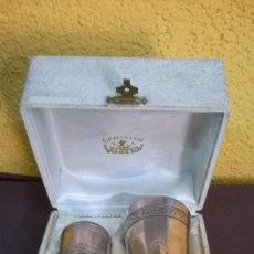 Antigüedades: VASO Y SERVILLETERO DE PLATA- ORFEBRERIA VOOLUX. Lote 87109756