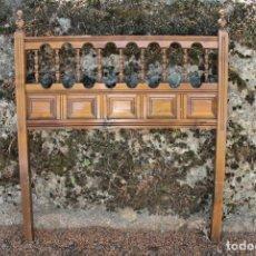 Antigüedades: ANTIGUO CABECERO CASTELLANO PARA CAMA PEQUEÑA.. Lote 87140128