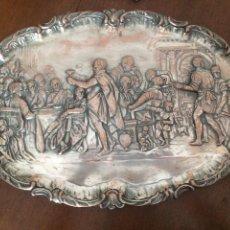 Antigüedades: BANDEJA PLATEADA FINALES XIX. Lote 87141015