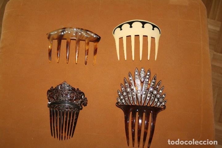 LOTE PEINETAS ANTIGUAS (Antigüedades - Moda - Peinetas Antiguas)