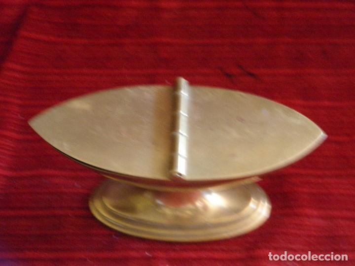 Antigüedades: ANTIGUA NAVETA EN METAL - Foto 2 - 87203232