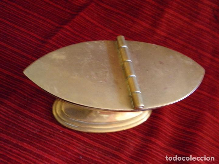 Antigüedades: ANTIGUA NAVETA EN METAL - Foto 6 - 87203232
