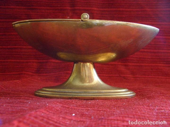 Antigüedades: ANTIGUA NAVETA EN METAL - Foto 8 - 87203232