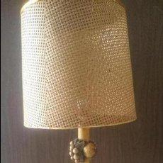 Antigüedades: LAMPARA TALLA MADERA FRUTAS. Lote 87211660