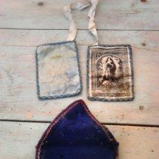 Antigüedades: ANTIGUO ESCAPULARIO?VIRGEN MARIA PURISIMA,VER FOTOS. Lote 87220536