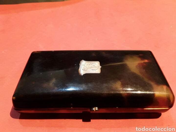 Antigüedades: Antigua Purera S.XIX en Carey, oro y plata - Foto 4 - 87222204