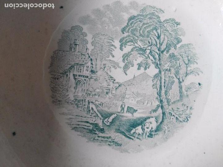 Antigüedades: PALANGANA / ZAFA DE SAN JUAN AZNALFARACHE SERIE VACAS 1859-1868 - Foto 4 - 87232236