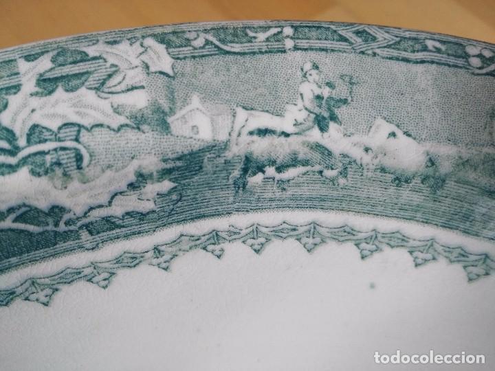 Antigüedades: PALANGANA / ZAFA DE SAN JUAN AZNALFARACHE SERIE VACAS 1859-1868 - Foto 6 - 87232236