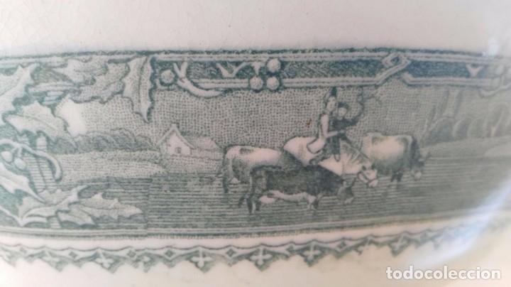 Antigüedades: PALANGANA / ZAFA DE SAN JUAN AZNALFARACHE SERIE VACAS 1859-1868 - Foto 7 - 87232236