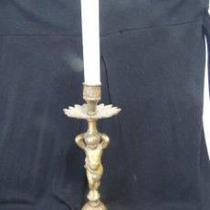 Antigüedades: CANDELABRO BRONCE 26 CM. Lote 87232340