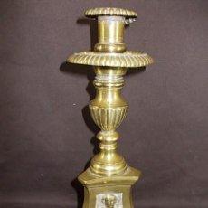 Antiques - ANTIGUO CANDELABRO CANTABRO EN BRONCE S.XVIII-XIX INSCRIPCION FRANCISCO ARGUMOSA - 87252712