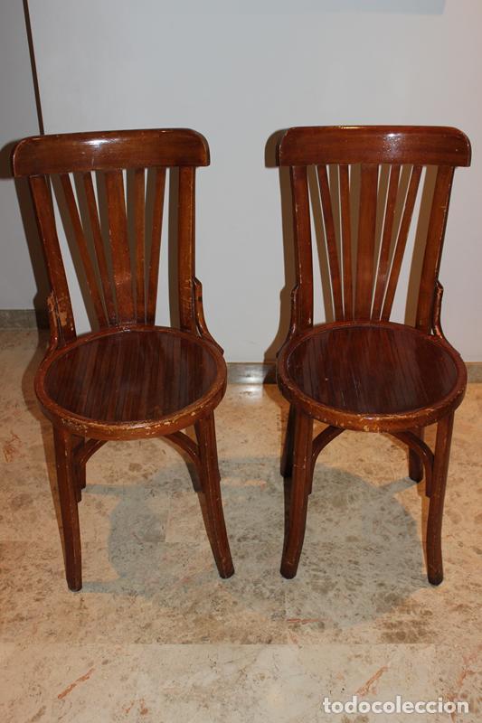 Pareja de sillas de madera estilo thonet marca comprar for Patas para muebles madera