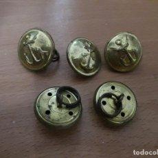 Antigüedades: LOTE ANTIGUOS BOTONES VARIADOS VER TODOS ROPA MILITAR UNIFORMES MILITARES MARINA DESCONOZCO. Lote 87268580