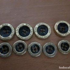 Antigüedades: LOTE ANTIGUOS BOTONES VARIADOS VER TODOS ROPA MILITAR UNIFORMES MILITARES MARINA DESCONOZCO PARIS. Lote 87268684