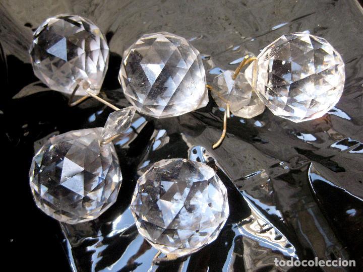 50 BOLAS CRISTAL RESTAURACION LAMPARAS ANTIGUAS O VINTAGE. LAMPARA LAGRIMAS CRISTAL BOLA (Antigüedades - Iluminación - Lámparas Antiguas)