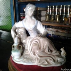 Antigüedades: FIGURA PORCELANA MARCA TENGRA. Lote 87352652