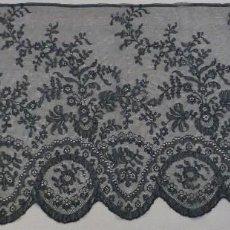 Antigüedades: ANTIGUA TOCA - MANTILLA DE ENCAJE CHANTILLY PPIO.S.XX. Lote 87355872