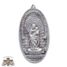 Antigüedades: MEDALLA CABALLEROS DE NUESTRA SEÑORA DEL PILAR - ZARAGOZA -COLVMNAM DVCEM HABEMVS - 6,5 CM DE ALTO. Lote 87376540