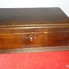 Antigüedades: COFRE BAUL MADERA ANTIGUO. Lote 87382976