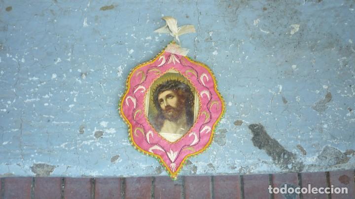 Antigüedades: escapulario bordado - Foto 2 - 87384444