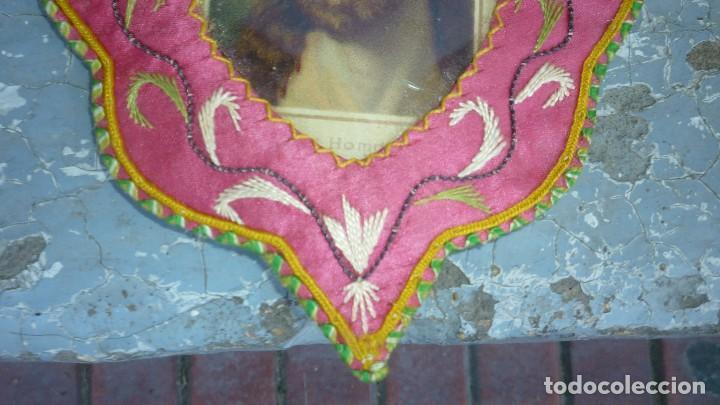 Antigüedades: escapulario bordado - Foto 3 - 87384444