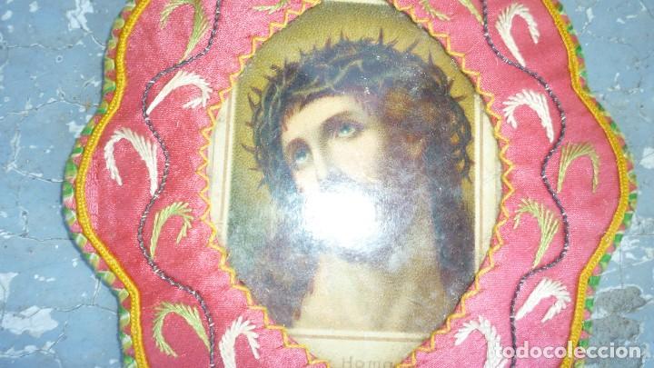 Antigüedades: escapulario bordado - Foto 4 - 87384444