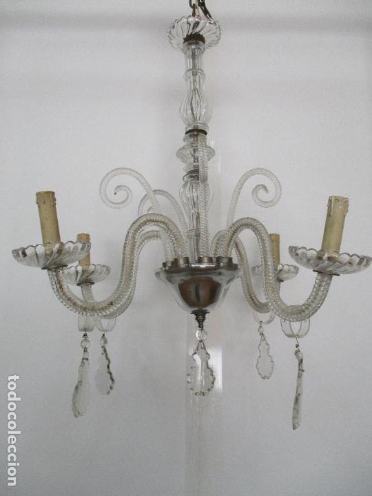 Antigua l mpara de techo ara a cristal con la comprar - Lamparas de arana antiguas ...