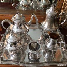 Antigüedades: JUEGO DE CAFÉ Y TÉ DE PLATA. Lote 87396731