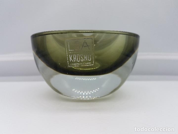Antigüedades: Antiguo cenicero Krosno Poland en cristal de estilo art deco precioso. - Foto 2 - 87403372