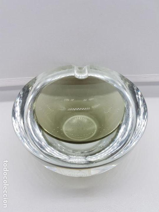 Antigüedades: Antiguo cenicero Krosno Poland en cristal de estilo art deco precioso. - Foto 4 - 87403372