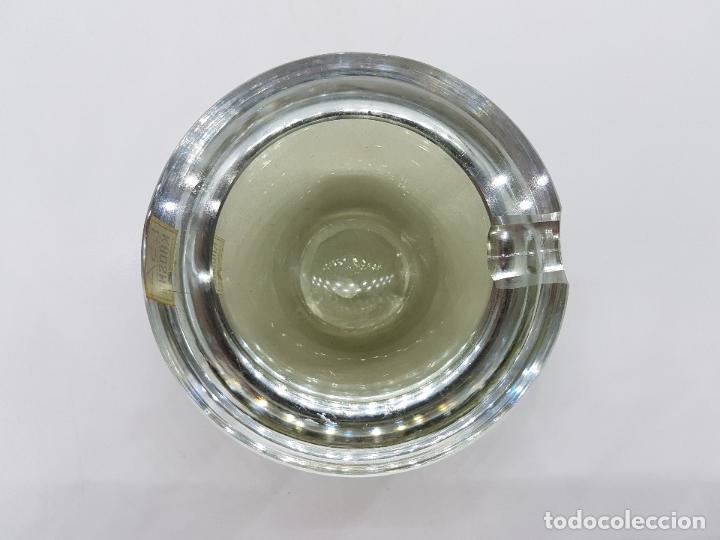 Antigüedades: Antiguo cenicero Krosno Poland en cristal de estilo art deco precioso. - Foto 5 - 87403372