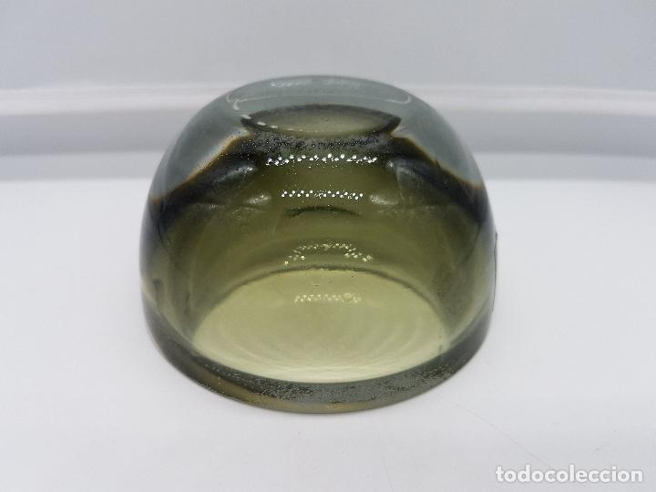 Antigüedades: Antiguo cenicero Krosno Poland en cristal de estilo art deco precioso. - Foto 7 - 87403372