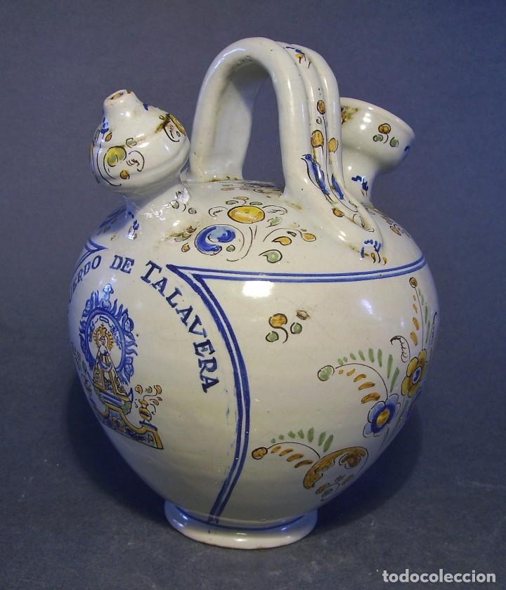 BOTIJO CERÁMICA DE TALAVERA XIX – XX ( JUAN RUIZ DE LUNA ) (Antigüedades - Porcelanas y Cerámicas - Talavera)