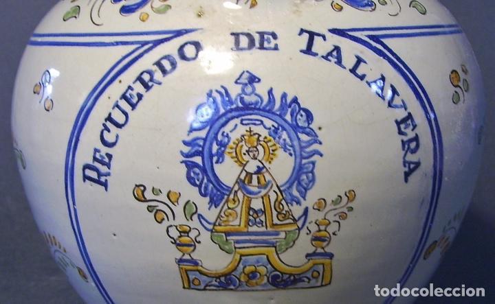 Antigüedades: BOTIJO CERÁMICA DE TALAVERA XIX – XX ( JUAN RUIZ DE LUNA ) - Foto 10 - 87404756