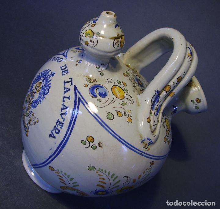 Antigüedades: BOTIJO CERÁMICA DE TALAVERA XIX – XX ( JUAN RUIZ DE LUNA ) - Foto 11 - 87404756