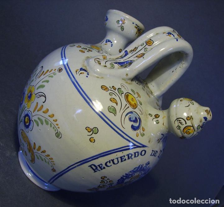 Antigüedades: BOTIJO CERÁMICA DE TALAVERA XIX – XX ( JUAN RUIZ DE LUNA ) - Foto 12 - 87404756