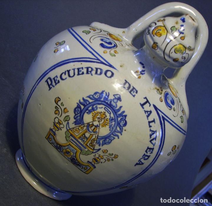 Antigüedades: BOTIJO CERÁMICA DE TALAVERA XIX – XX ( JUAN RUIZ DE LUNA ) - Foto 14 - 87404756